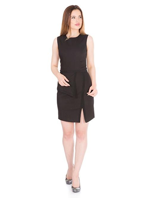 Karaca Kolsuz Yırtmaç Detaylı Kısa Elbise Siyah
